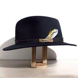 Stetson chapeau Traveller feutre de laine noir