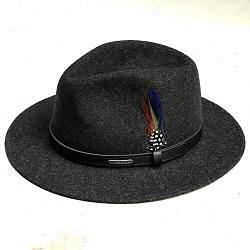 Stetson chapeau homme traveller gris feutre de laine Yutan