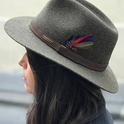 Stetson chapeau traveller kaki chine feutre de laine Yutan