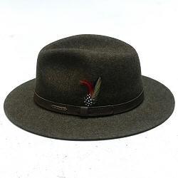 Stetson chapeau homme traveller kaki chine feutre de laine Yutan