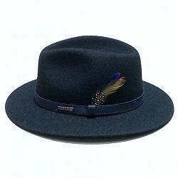 Stetson chapeau traveller bleu chine feutre de laine Yutan