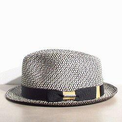 Stetson chapeau Trilby été noir blanc