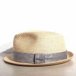 Stetson chapeau Trilby été paille galon gris