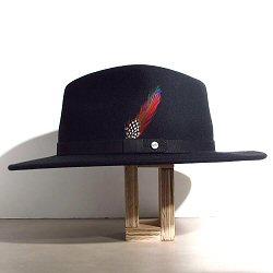 Stetson chapeau femme Yutan noir traveller feutre de laine