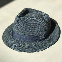 Stetson chapeau Fedora crochet raffia