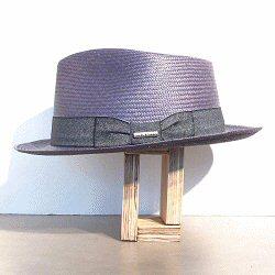 Stetson chapeau femme panama bleu