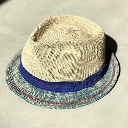 Stetson chapeau Trilby homme crochet tie dye bleu