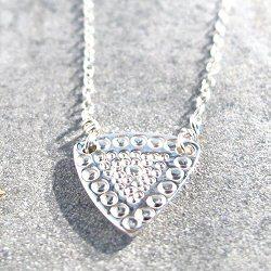 Sumi Kaneko collier Triangle argent 925 martellé