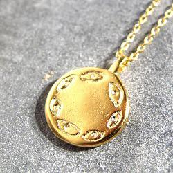 Tassia Canellis collier medaille oeil eye multi Orbe