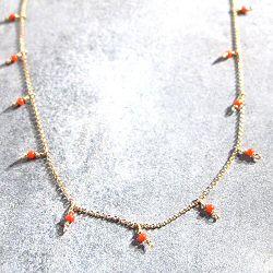 Tassia Canellis collier Metronomy perles rouille