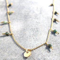 Tassia Canellis collier Tahar perles turquoise naturelle