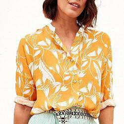 Tinsels blouse Ottilie jaune imprimè crocus