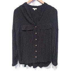 Tinsels chemise carreaux Ince noire