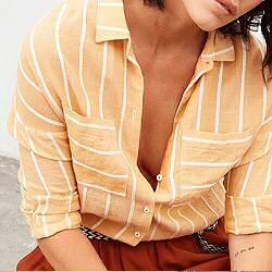 Tinsels chemise jaune rayèe Mirtha soleil