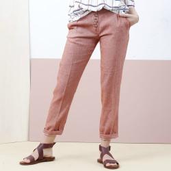 Tinsels pantalon lin rouille Kahan