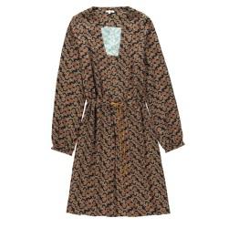 Tinsels robe imprimée Laurel corail
