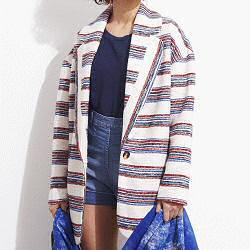 Tinsels veste Grayson rouge/ecrue/bleu