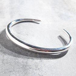 Trois Petits Points bracelet Crescent argent