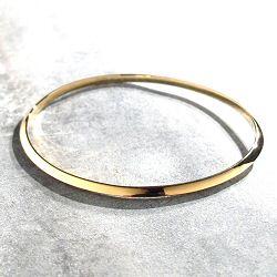 Trois Petits Points bracelet jonc Theorem laiton doré