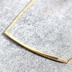 Trois Petits Points collier Twig or 18k et diamants