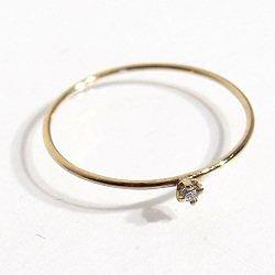 Trois Petits Points bague Solitaire Dear diamant serti griffe or 18k
