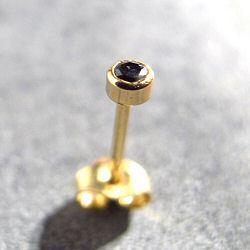 Trois Petits Points BO SOLO Solitaire diamant noir or 18k stud