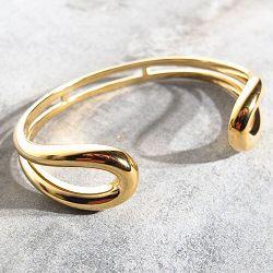 Trois Petits Points bracelet Serpentine laiton dore