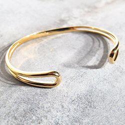 Trois Petits Points bracelet S Serpentine laiton doré