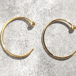 Trois Petits Points créoles dorées Ring S