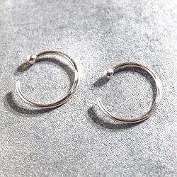 Trois Petits Points créoles Ring XS argent 925