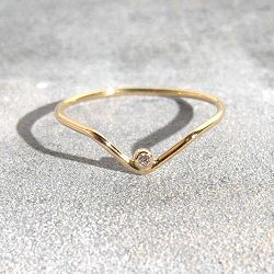 Trois Petits Points bague Arrow diamant or 18k