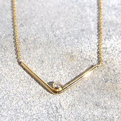 Trois Petits Points collier Arrow diamant or 18k