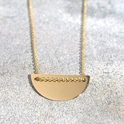 Trois Petits Points collier Mini Moon or 18k