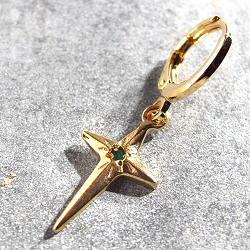 Vadi boucle solo Donia croix Onyx vert