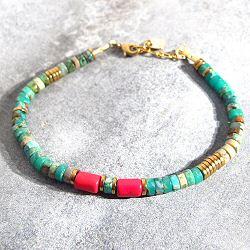 Vadi bracelet perles turquoise Sankar