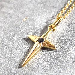 Vadi collier Donia croix Onyx noir