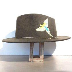 Van Palma chapeau brode perroquet Dakota kaki
