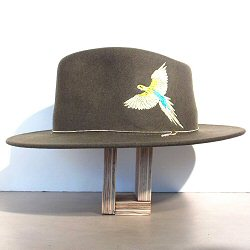 Van Palma chapeau brodé perroquet Dakota kaki
