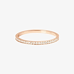 Vanrycke bague jonc Officiel diamant or rose 18k