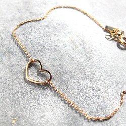 Vanrycke bracelet coeur Angie or rose 18k