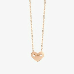 Vanrycke collier mini-cœur pelin Angie or rose 18k