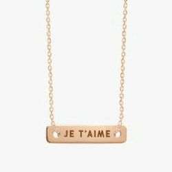 Vanrycke collier Je t'aime Bonnie & Clyde or rose 18k