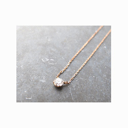 Vanrycke collier solitaire Valentine or rose King One