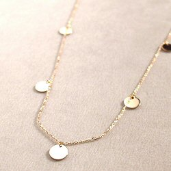 Vanrycke collier Marrakech sequins or rose 18k