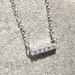 Vanrycke collier Mini-medellin or blanc diamants