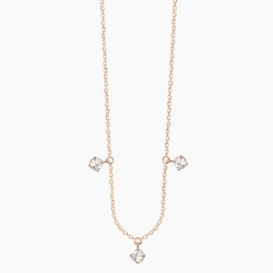 Vanrycke collier Stardust 3 diamants or rose 18k