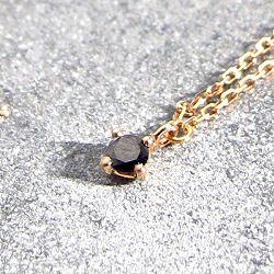 Vanrycke collier Stardust diamant noir or rose 18k