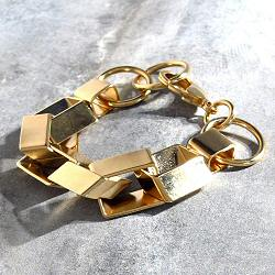 Viveka Bergstrom bracelet chaine Biais XL dore