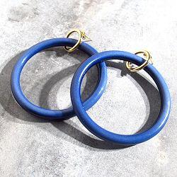 Viveka Bergstrom Creoles Resine bleu / dore