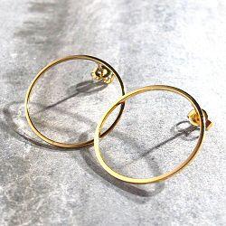 Viveka Bergstrom boucles Ring doré